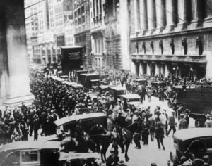 Die Wall Street nach dem Börsencrash im Oktober 1929 Lizenz: CC0 1.0 Universell (CC0 1.0) Die Originaldatei ist hier zu finden.